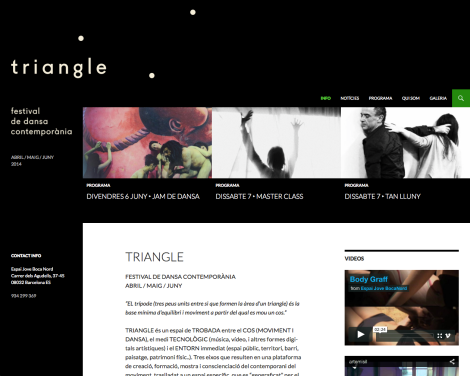 Home page triangle